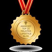 Feedspot Top 40 Malaysia Lifestyle Blogs Badge